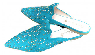 Pretty Ballerinas Turquoise Suede Flats