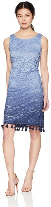 Jessica Howard JessicaHoward Women's Sleeveless Shift Dress with Detailed Hem
