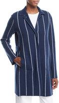 Loro Piana Striped Cashmere Coat Cardigan