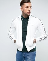 Fred Perry Sports Authentic Track Jacket In White