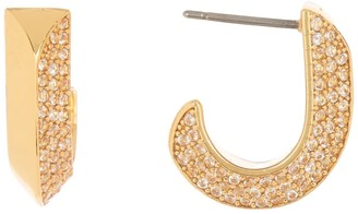 Kate Spade Raise The Bar Pave Huggie Hoop Earrings