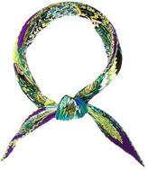 Hermes Fleurs d'Indiennes Silk Plissé Scarf