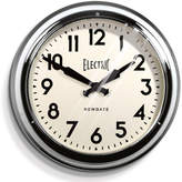 Newgate Large Electric Clock - Chrome