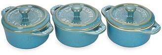 Staub Ceramic 3-Piece Mini Round Cocotte Set