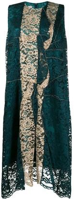 Antonio Marras asymmetric lace panel dress