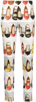 Moschino high heel printed trousers