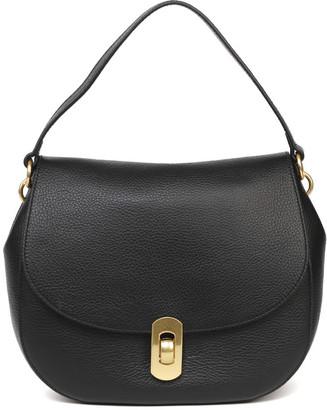 Coccinelle Zaniah Black Leather Shoulder Bag