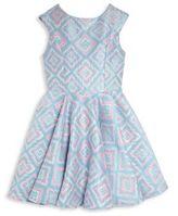 Un Deux Trois Girl's Ikat-Print Party Dress