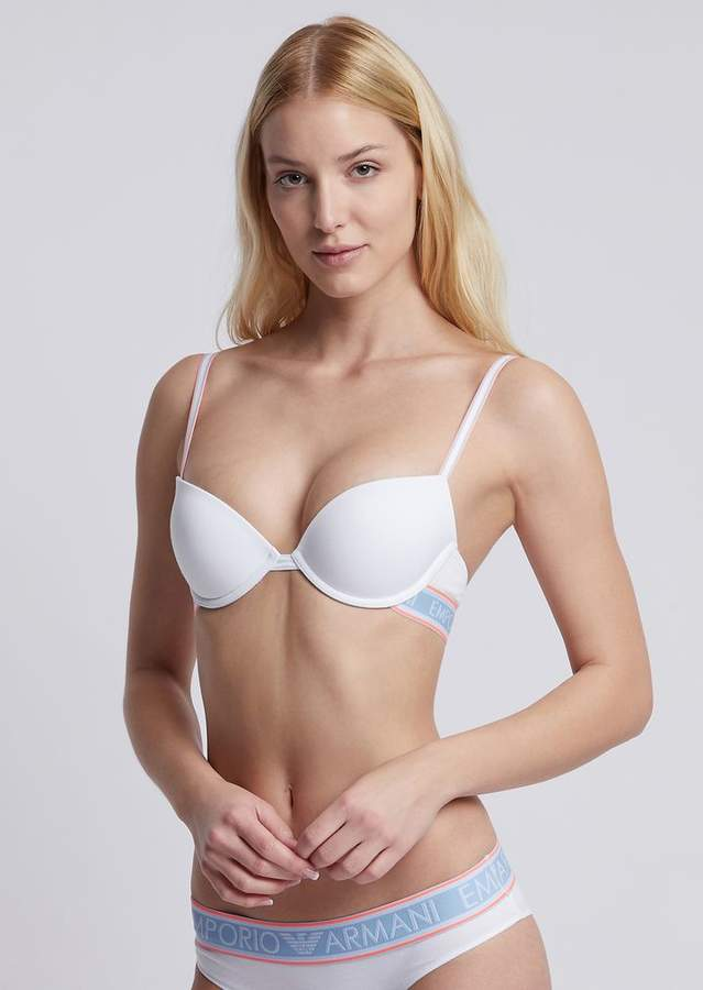 735aa51d0 White Strapped Bands Bra - ShopStyle