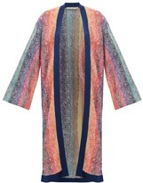 Mary Katrantzou Solka Jacquard-knit Long Cardigan - Womens - Pink Multi