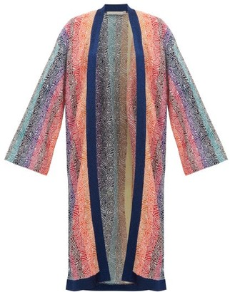 Mary Katrantzou Solka Jacquard Knit Long Cardigan - Womens - Pink Multi