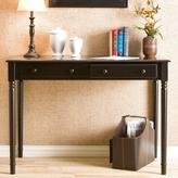 Home Decorators Collection Satin 2-Drawer Writing Desk in Black