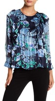 Collective Concepts Floral Ruffle Blouse