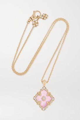 Buccellati 18-karat Gold, Jade And Diamond Necklace