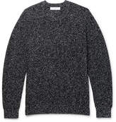 Sandro Mélange Wool-blend Sweater - Black