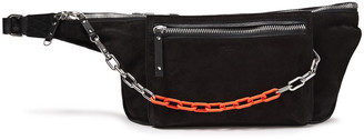 Rag & Bone Elliot Large Chain-detailed Suede And Leather Belt Bag
