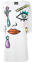 Moschino face print dress - women - Polyester/Other fibres - 38