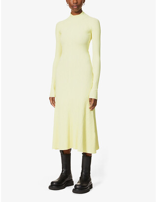 Dion Lee Ribbed open-back stretch-jersey midi dress