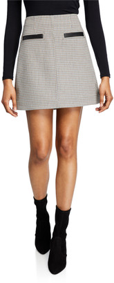 A.L.C. Reynolds Check Short Skirt