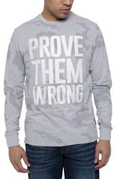 Sean John Men's Prove Them Wrong Long-Sleeve Camo T-Shirt