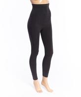 Joan Vass Charcoal Seamless High-Waist Moderate Compression Leggings - Plus Too
