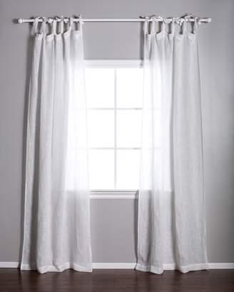 Lulu & Georgia Pom Pom at Home Tie-Top Curtain, White