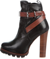 Barbara Bui Leather Platform Booties