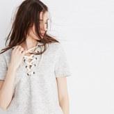 Madewell Lace-Up Hoodie Sweatshirt