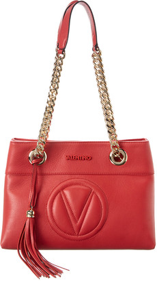 Valentino By Mario Valentino Kali Sauvage Leather Shoulder Bag