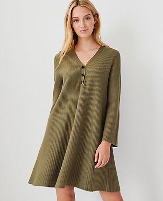 Ann Taylor Henley Sweater Dress