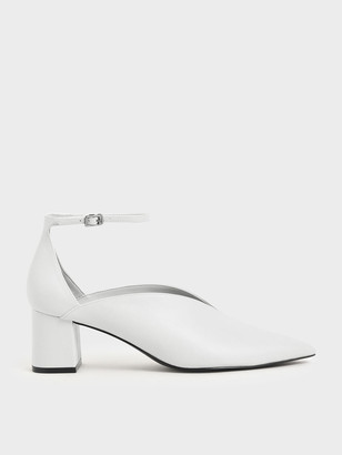 Charles & Keith V-Cut Ankle Strap Pumps