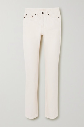 The Row Ash High-rise Straight-leg Jeans - Ivory