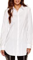 WORTHINGTON Worthington Long-Sleeve Boyfriend Button-Front Oxford Shirt