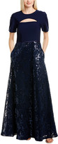 Kay Unger Sleeved Ball Gown