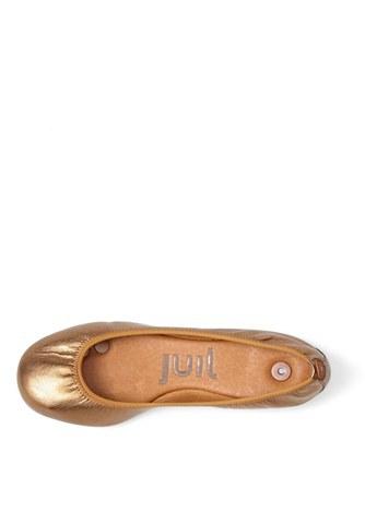 Juil 'The Flat' Earthing Metallic Leather Ballet Flat