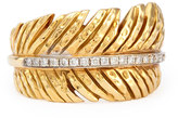 Michael Aram 18k Feather Ring with Diamonds