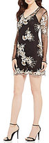 WAYF Iola Embroidered Mesh Shift Dress