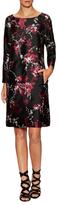 Oscar de la Renta Silk Floral Printed Shift Dress