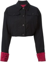 Dolce & Gabbana Pre Owned pinstriped cropped jacket