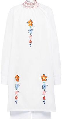 Prada Embroidered Flower Dress