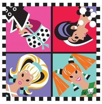 Bob Mackie Flatweave Purple/Pink/Red/Green Rug