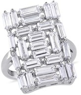 Allura 3.5 CT. T.W. Cubic Zirconia Mosaic Geometric Ring in Sterling Silver