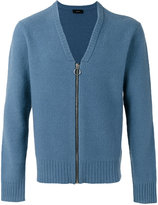 Joseph Zipped V-neck cardigan - men - Polyamide/Wool - S