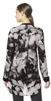 Mossimo Women's Long Sleeve Printed Blouse - Gray
