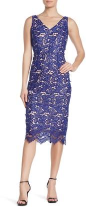 Marina Lace V-Neck Midi Dress
