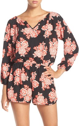 Fraiche by J Red Blossom Romper
