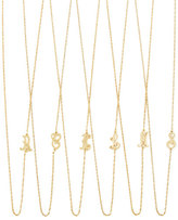 Jennifer Zeuner Jewelry 18k Gold Vermeil Mini Initial Necklace