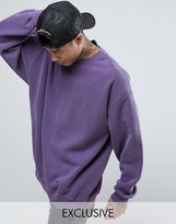 Reclaimed Vintage Inspired Oversized Sweatshirt In Purple Overdye