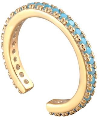 Seol + Gold 18Ct Gold Vermeil Turquoise Cz Cuff Earring