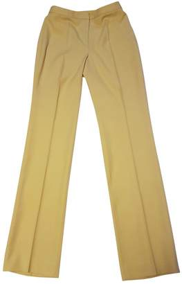 Gianni Versace Yellow Wool Trousers for Women Vintage